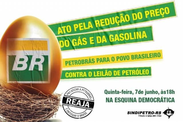 Ato Pela Redução Do Gás e da Gasolina nesta quinta (07)