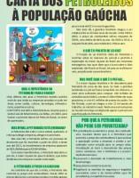 Carta dos Petroleiros à população gaúcha